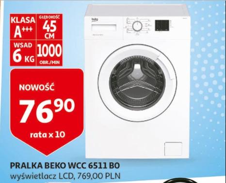Pralka Beko WCC6511B0 (45cm gł.) [Auchan]