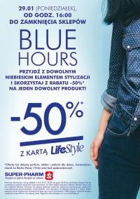 -50% na jeden artykuł Blue hours 29.01.18(poniedziałek) SUPERPHARM