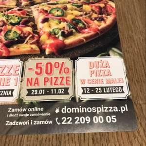 Dominos -50% na pizzę