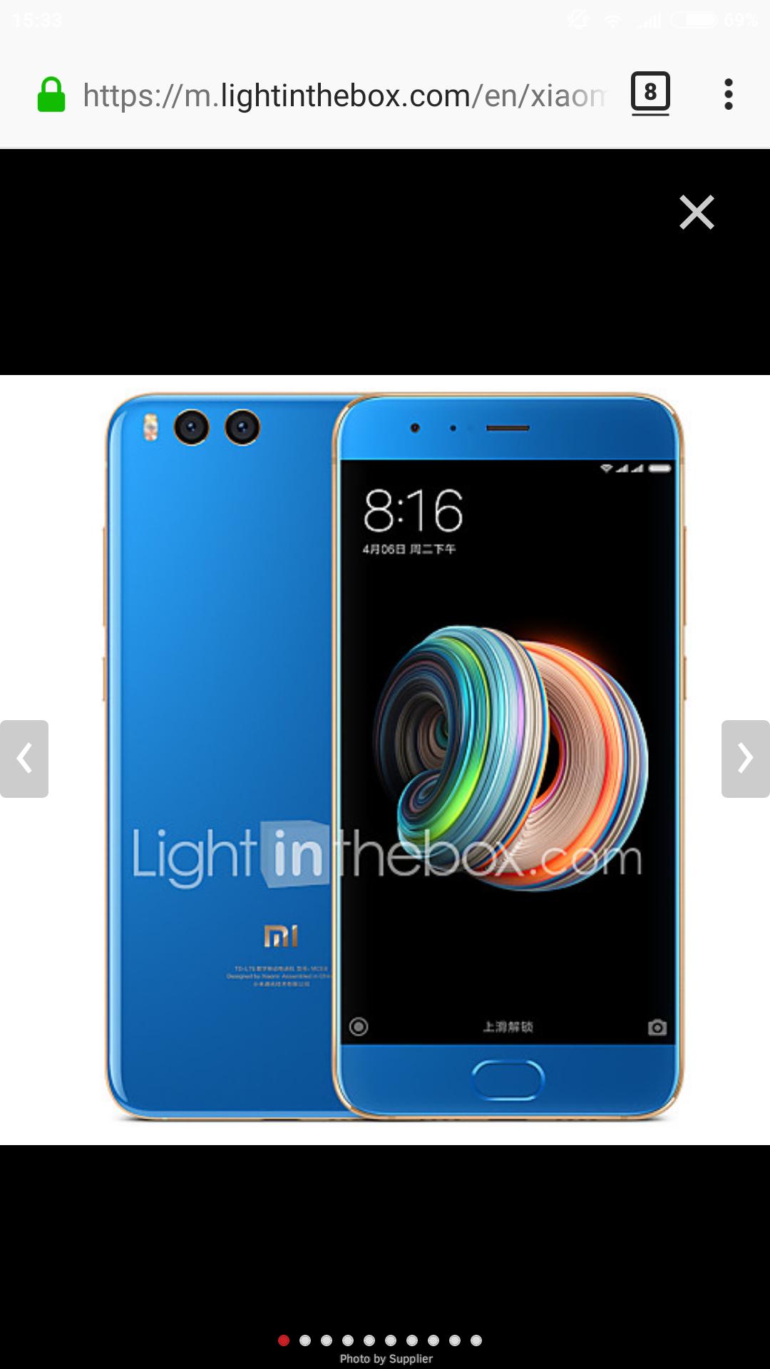 Niebieski Xiaomi mi note 3 6/64