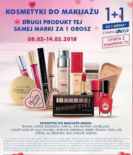 [Od 8.02] Kosmetyki do makijażu - 1+1 za grosz @ Super-Pharm