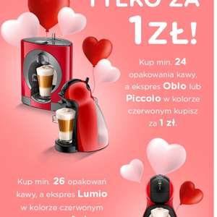 Ekspres dolce gusto za 1 pln przy zakupie kapsułek