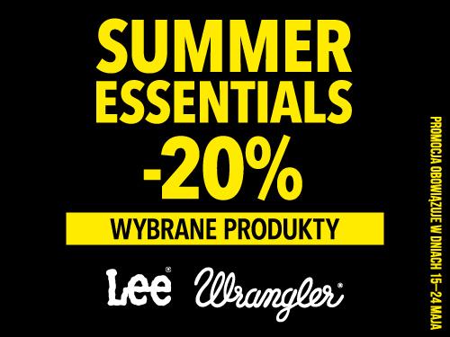 -20% na wybrane produkty Lee i Wrangler
