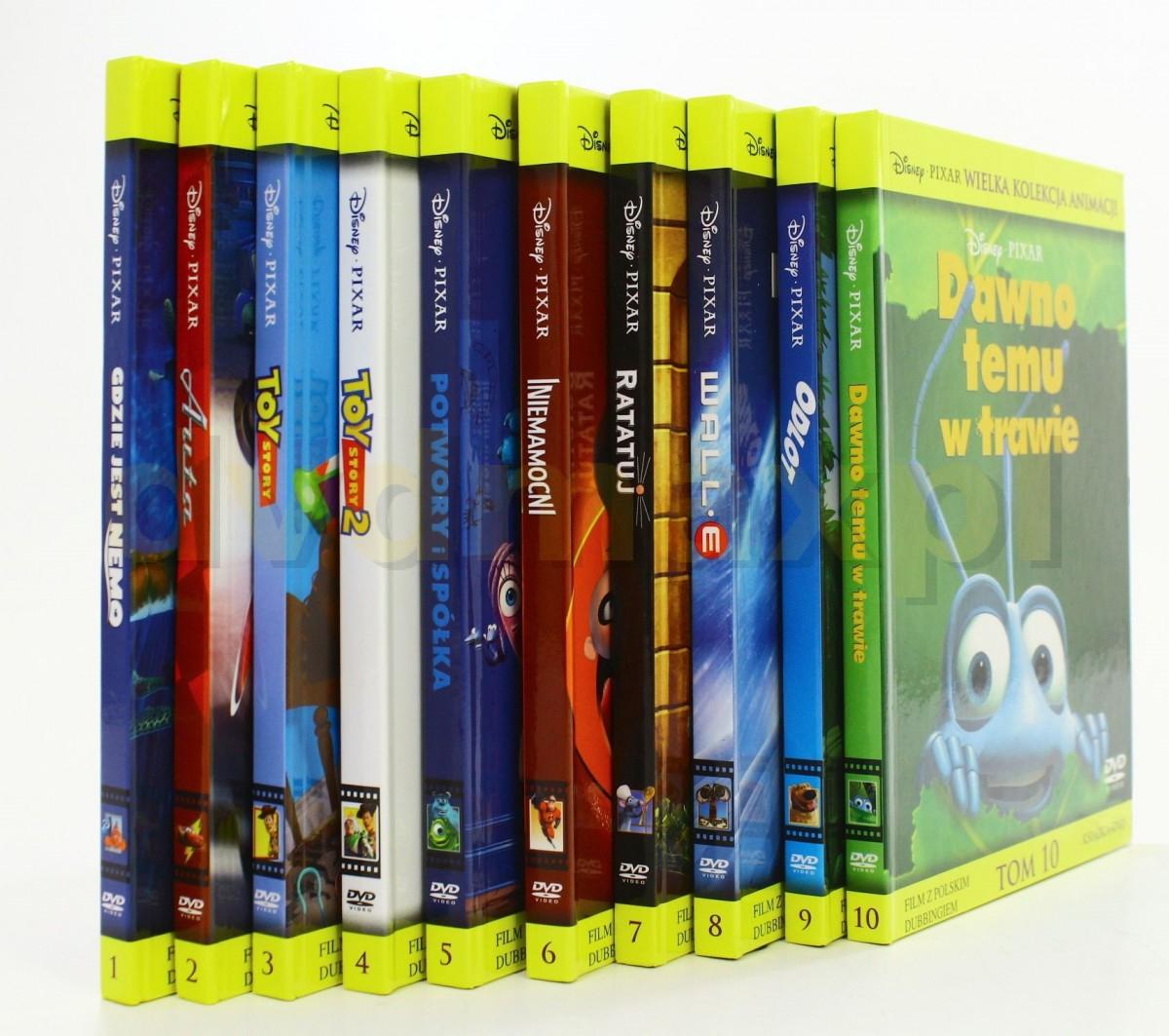 Filmy animowane studia PIXAR na DVD (min. Toy Story, Gdzie jest Nemo, Wall-E i inne!) @ Dedalus