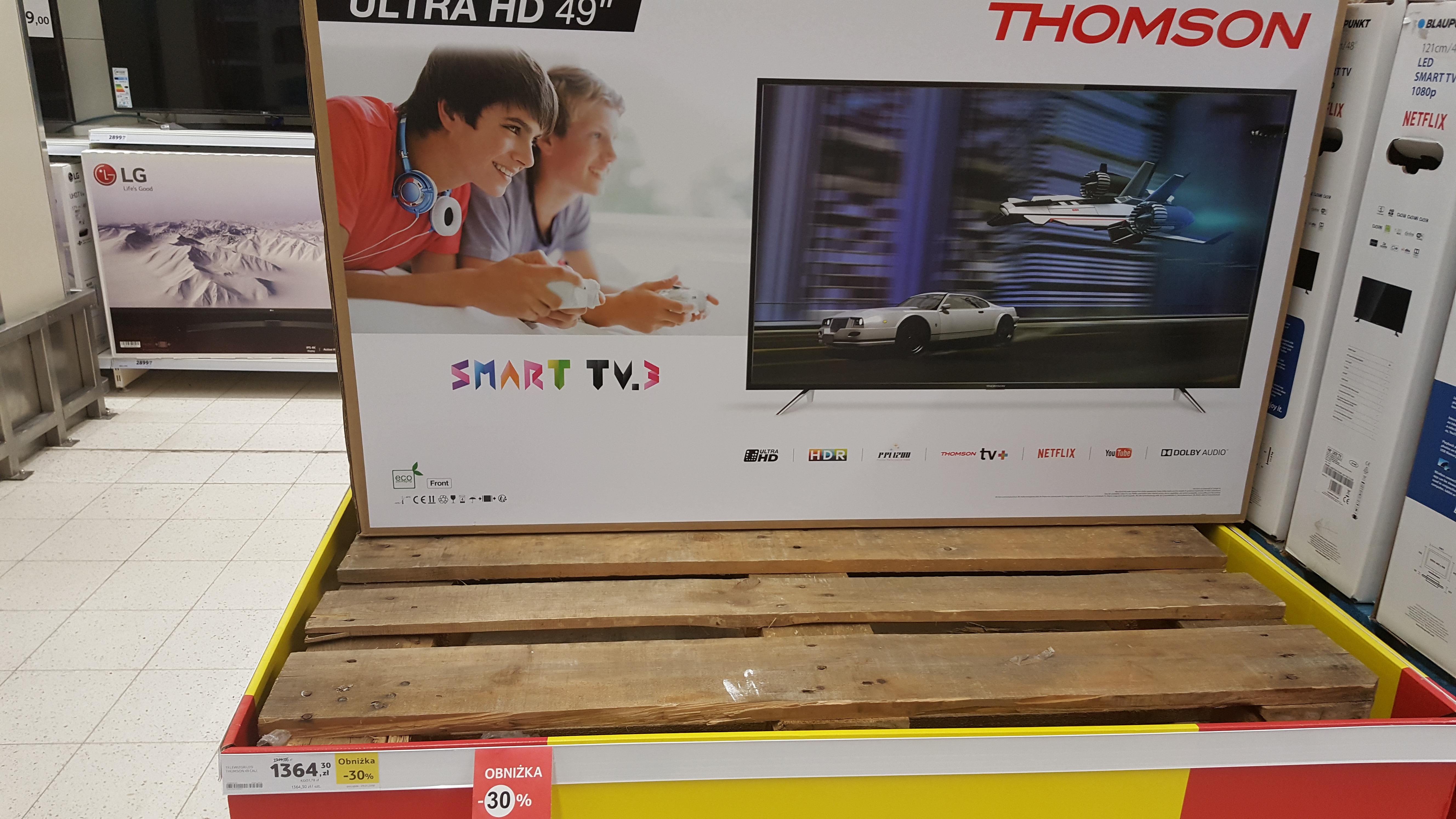 """Smart TV 4K UltraHD 49"""" Thomson za 1364 PLN"""