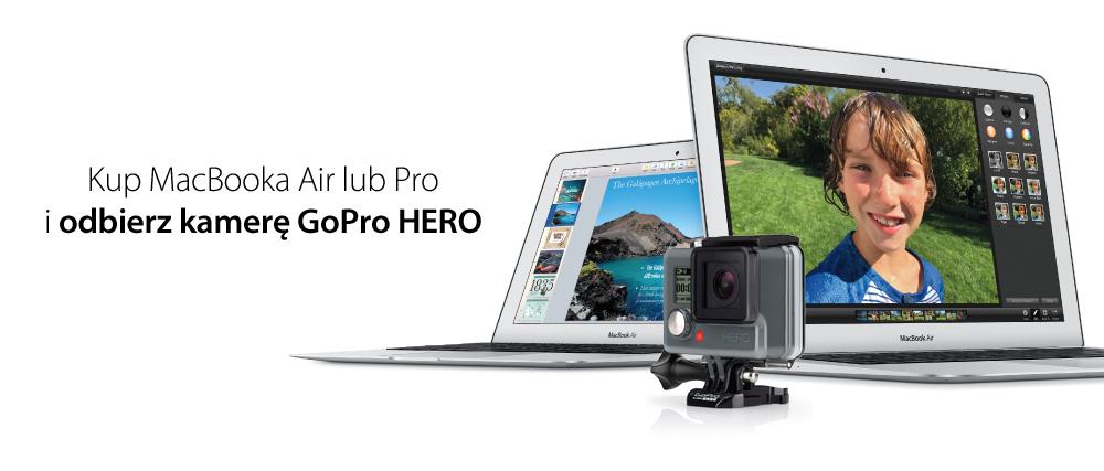 Kamera GoPro Hero za darmo przy zakupie MacBook Air lub Pro @ iSpot