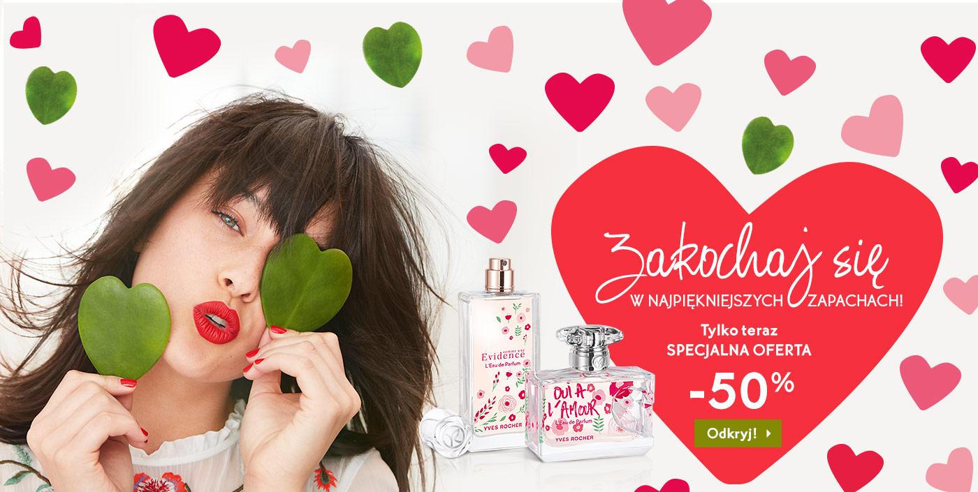 -50% na perfumy, -40% na jeden produkt oraz zegarek za 1 grosz do zamówienia @ Yves Rocher