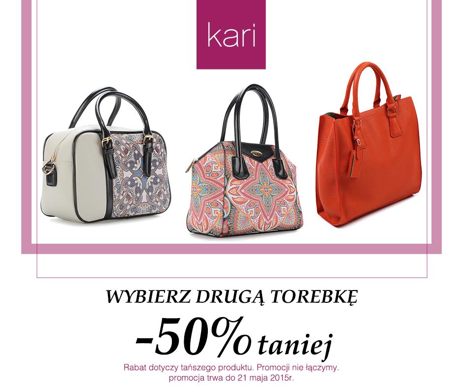 Druga torebka 50% taniej @ Kari