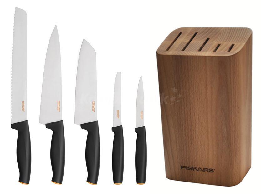 komplet noży Fiskars w bloku. Super cena