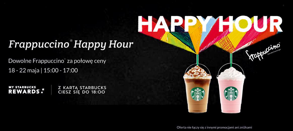 Happy hours: dowolne frappuccino za połowę ceny @ Starbucks
