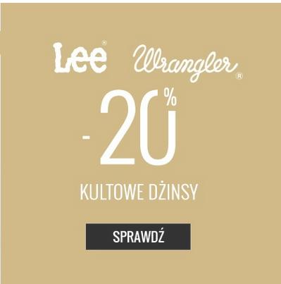 Rabat 20% na produkty Lee i Wrangler @ Answear