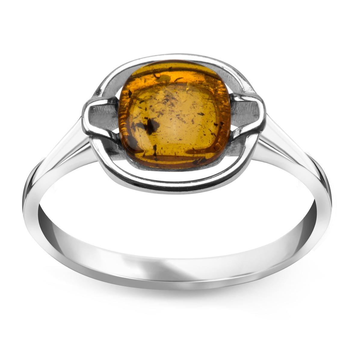 Srebrny pierścionek z bursztynem (r.14) za 45zł @ Yes