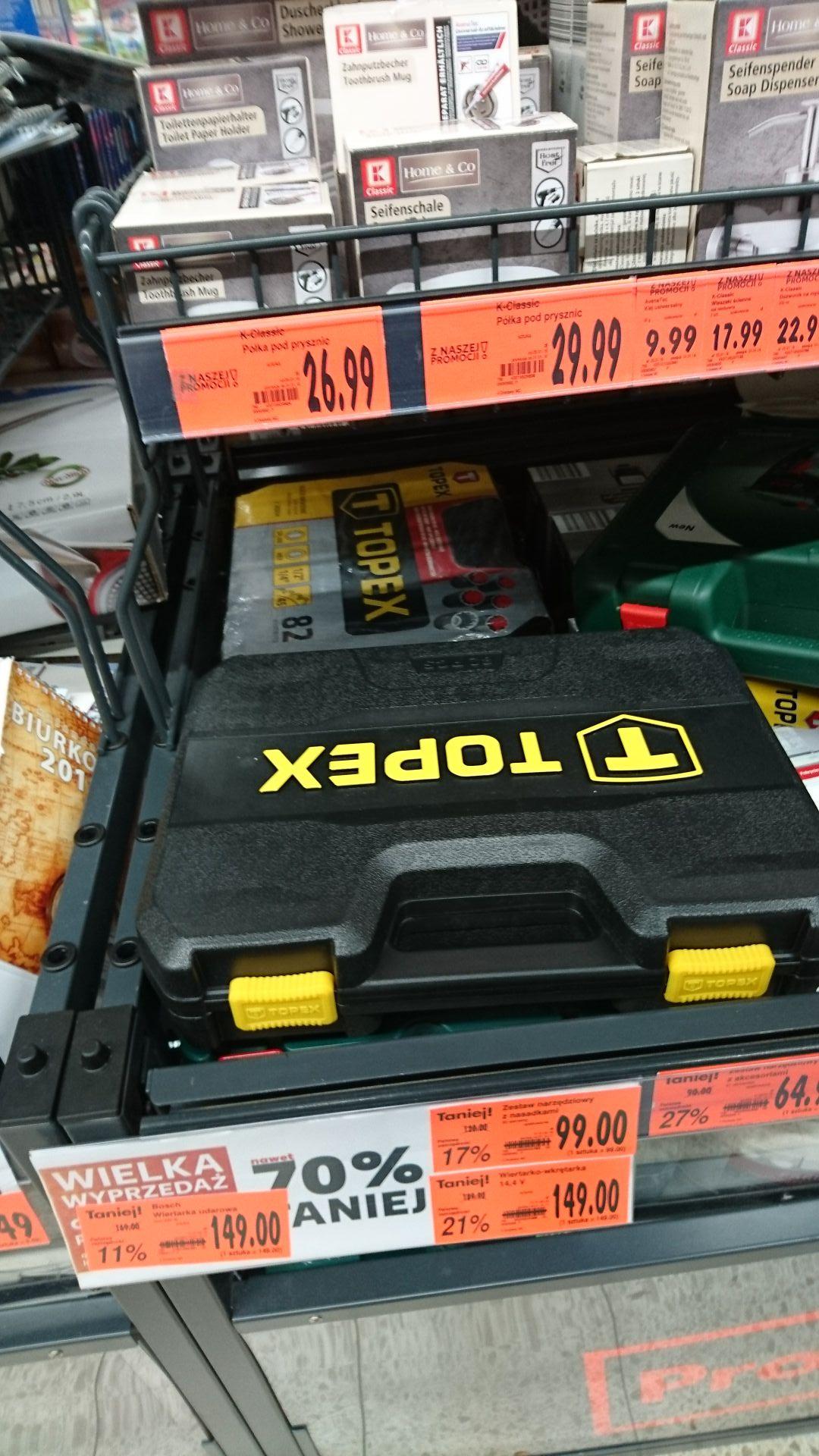 Zestaw narzędzi Topex 38D694 82elementy