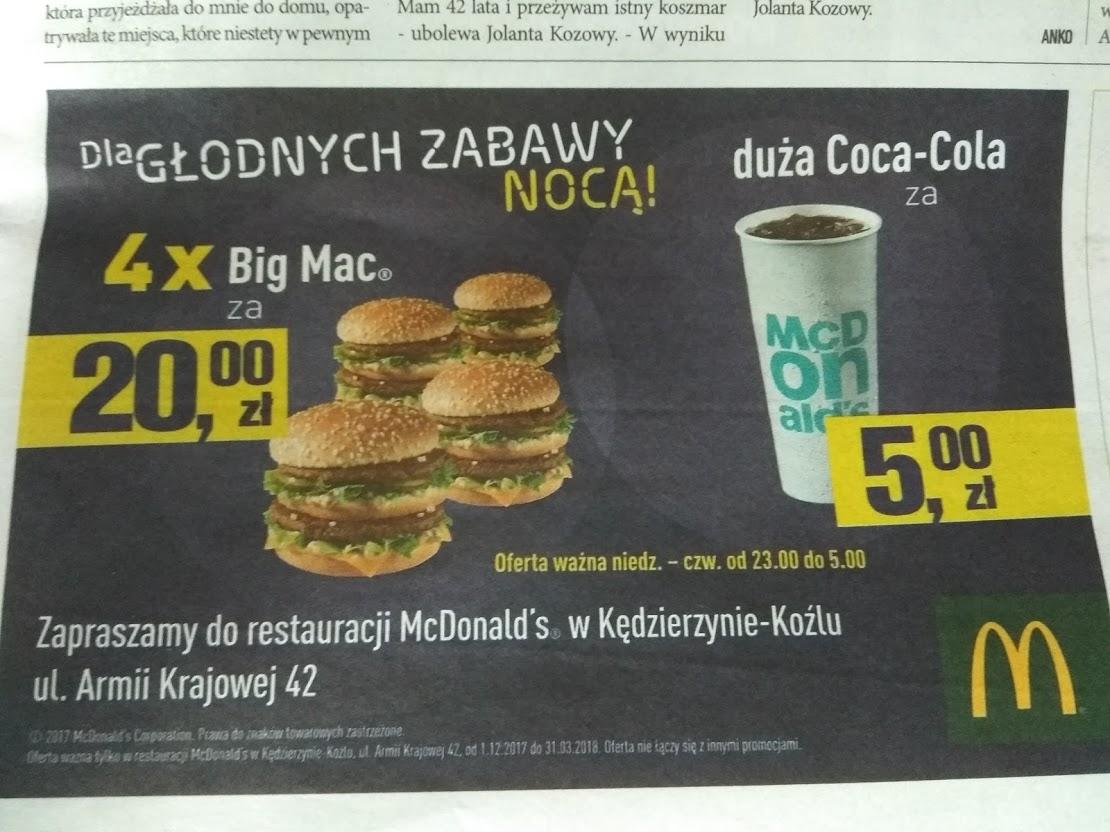 4x Big Mac za 20.00