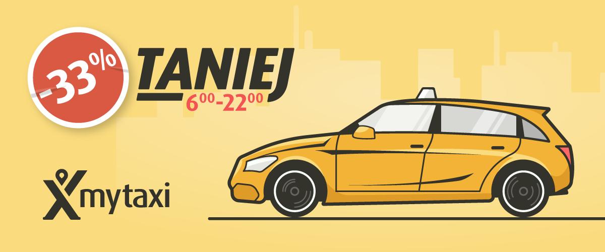 Taksówki 33% taniej od 6 do 22 Warszawa, Kraków, Trójmiasto @ Mytaxi
