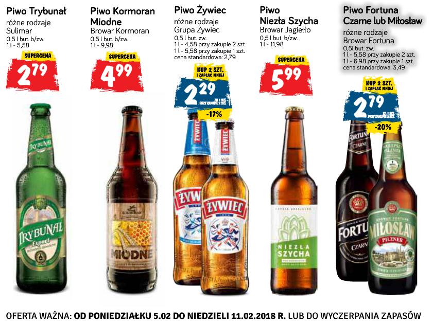 2x piwo Fortuna Czarne (2,79 zł za jedno) i kilka innych @ POLOmarket