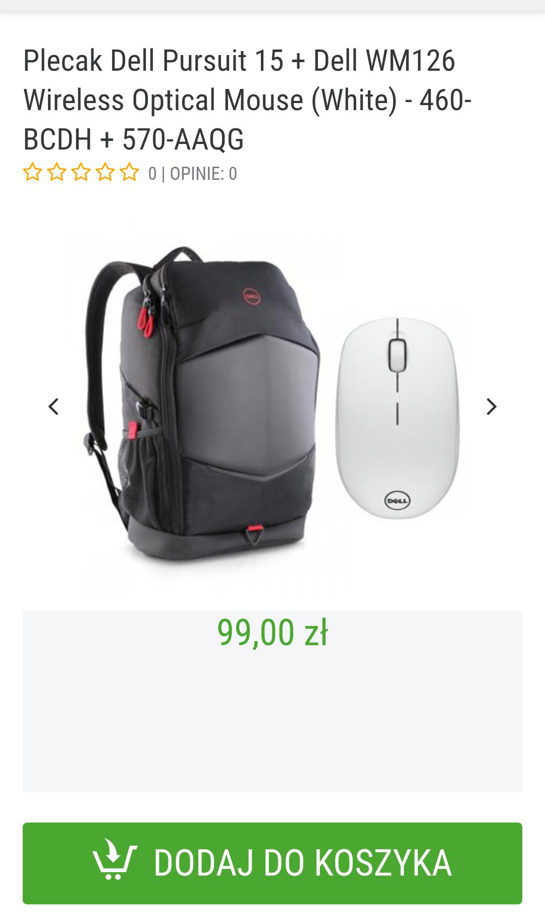 Plecak Dell Pursuit 15 + myszka Dell WM126 / Sferis