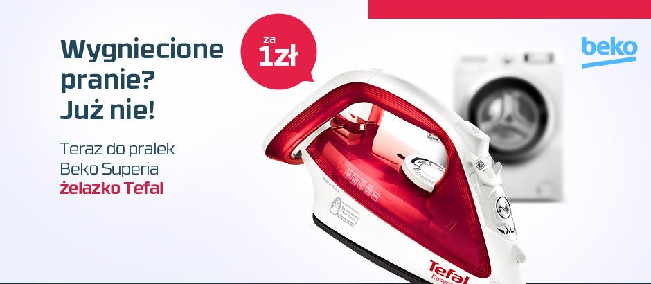 Żelazko Tefal za 1zł przy zakupie pralki Beko Superia @ Neo24.pl