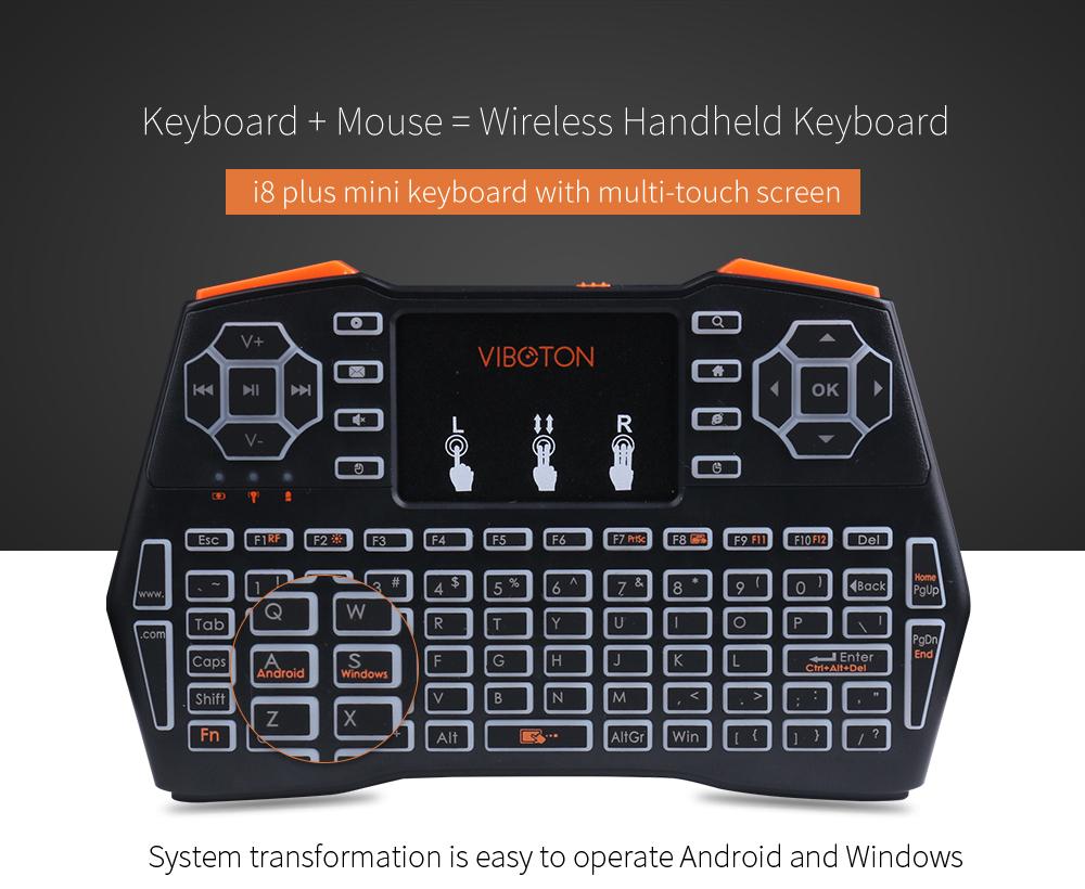 VIBOTON i8 Plus - klawiatura + myszka bezprzewodowa