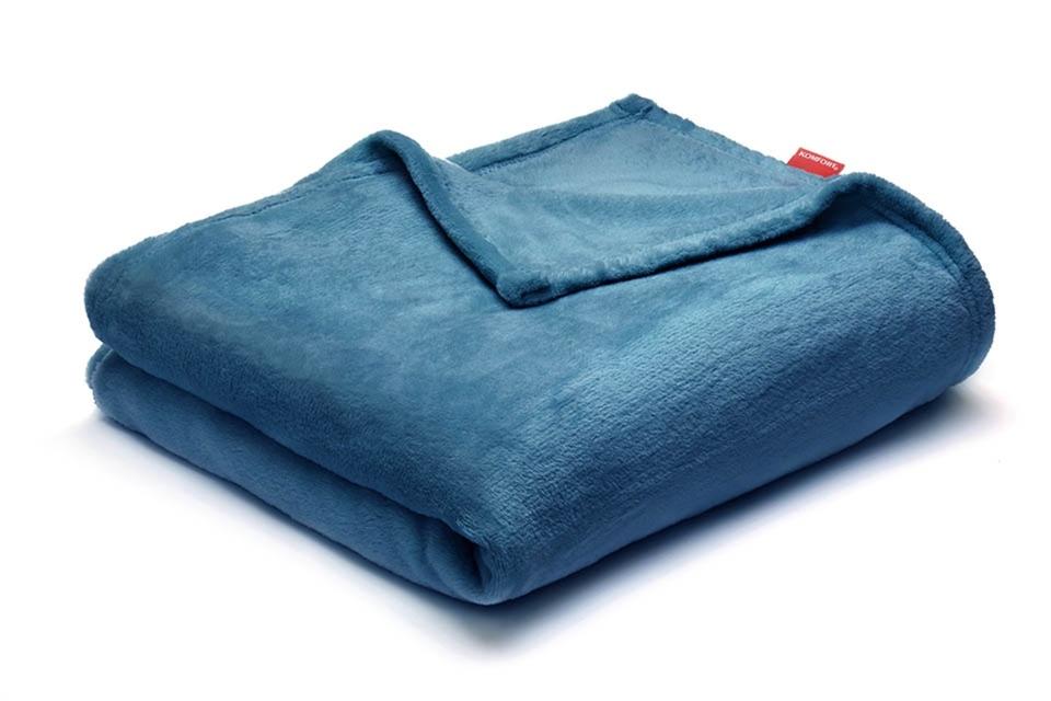 #Komfort: Koc Flannel Fleece Turquise