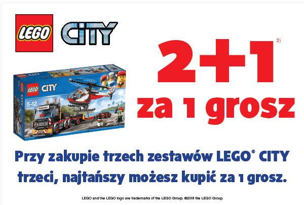 SMYK LEGO City 2+1 za grosz tylko sklepy stacjonarne
