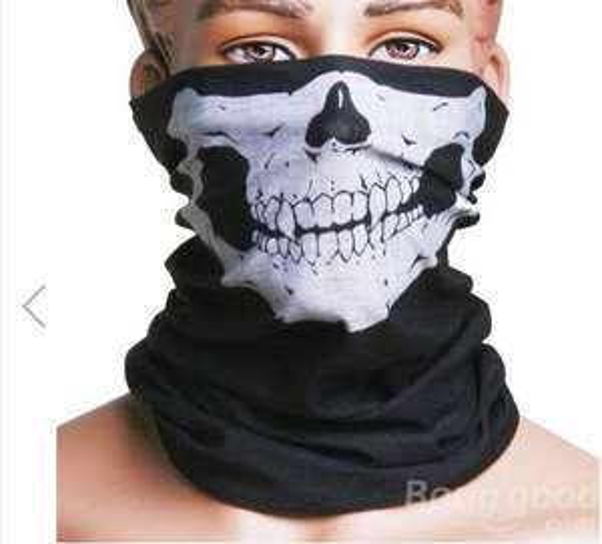 Chusta, komin, bandana z grafiką czaszki za 0,01$ (około 4 groszy!) @ Bangood