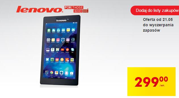 Tablet Lenovo A7-10F (7', 1GB RAM, 4x1,3GHz) za 299zł @ Biedronka