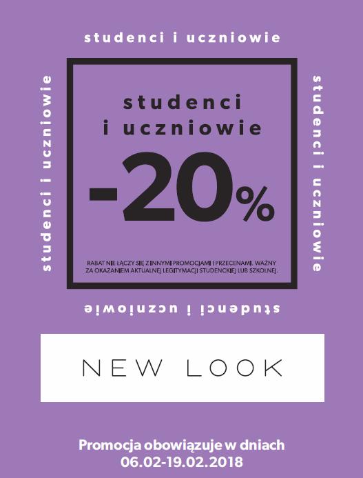 Rabat -20% dla uczniów i studentów @ New Look