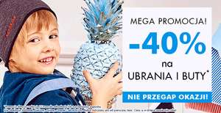 Rabat 40% na buty i ubrania @ 5.10.15