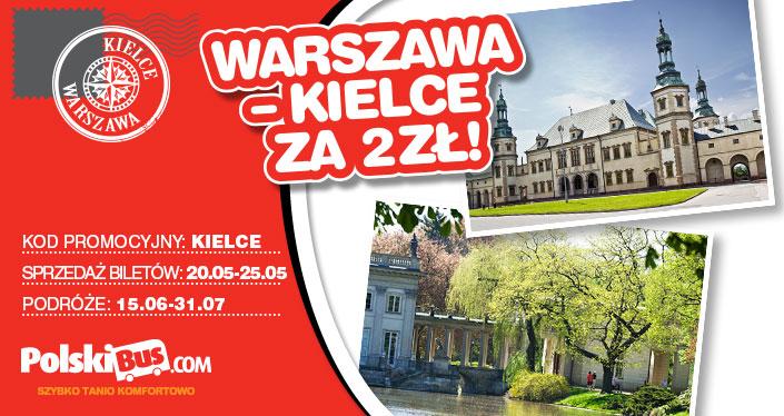 Bilety po 2zł, 4zł i 8zł przy wykorzystaniu kodów rabatowych @ Polski Bus