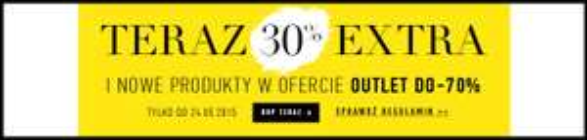 Extra rabat -30% na produkty z OUTLETU @ Wólczanka