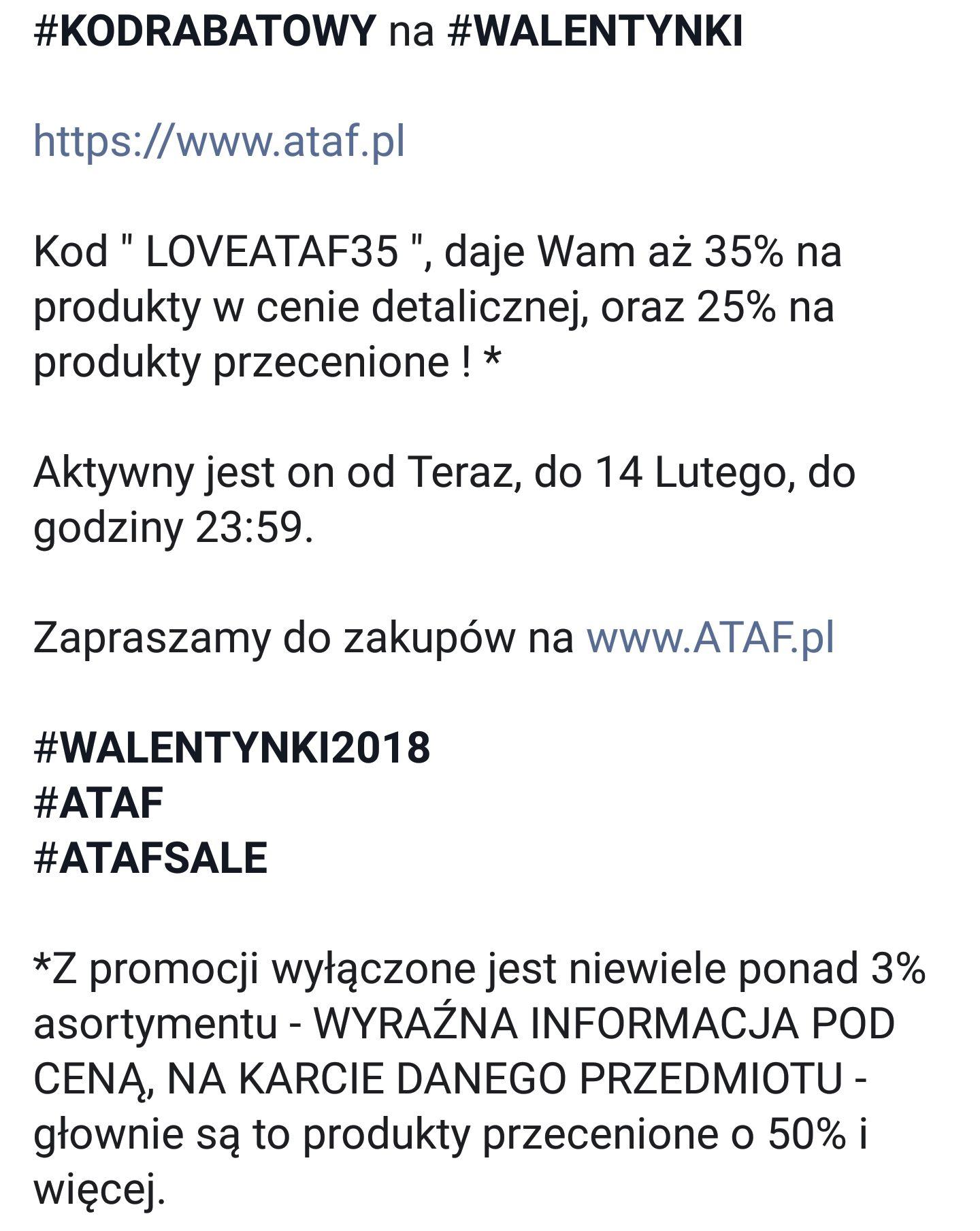 Kod rabatowy ATAF