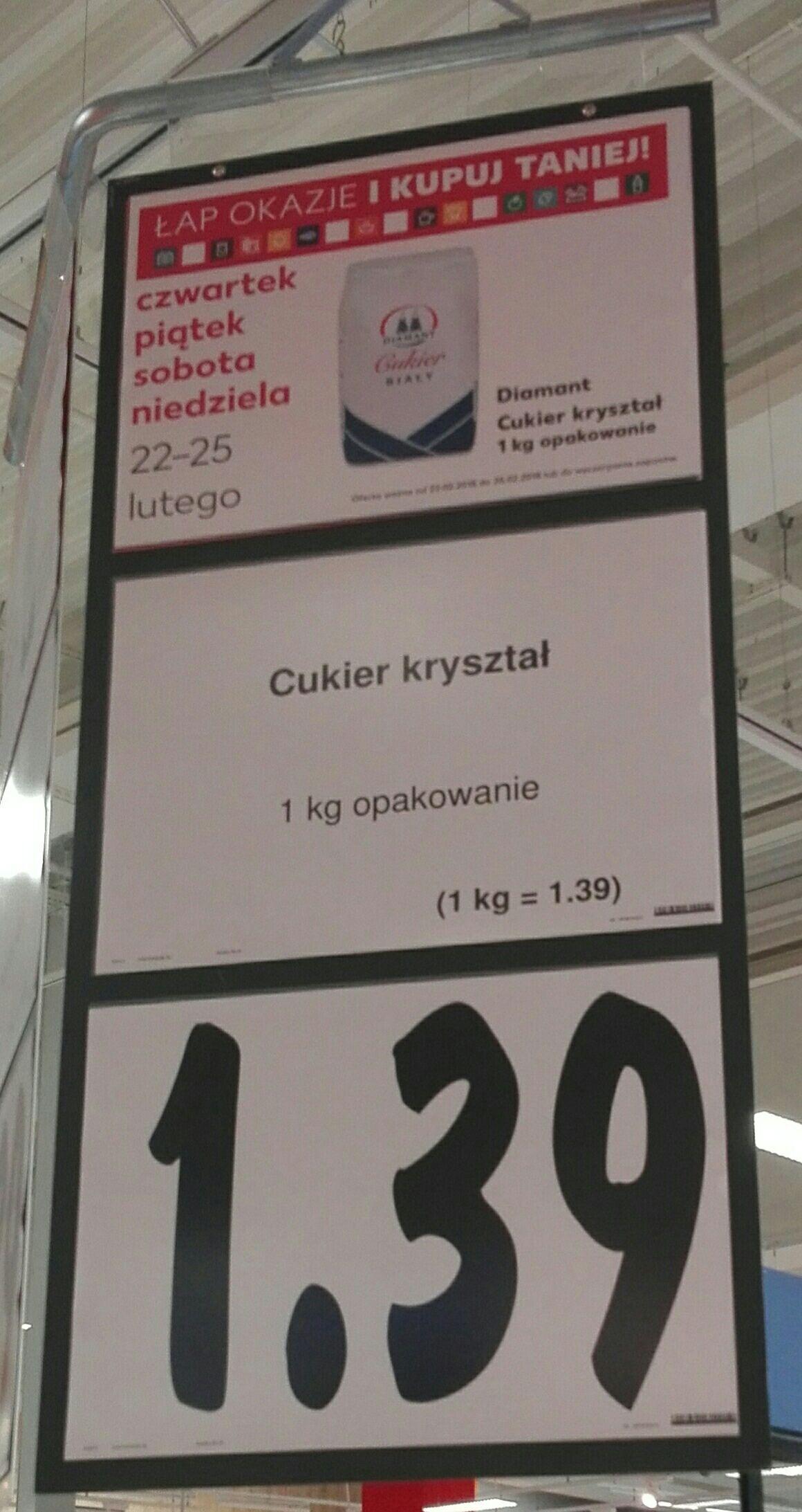 Cukier kryształ cena za kg - Kaufland