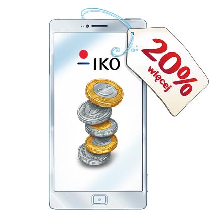 Doładuj swoje konto w aplikacji IKO i otrzymaj 20% Bonus od Orange!