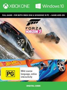 Forza horizon 3+hot wheels xone/pc