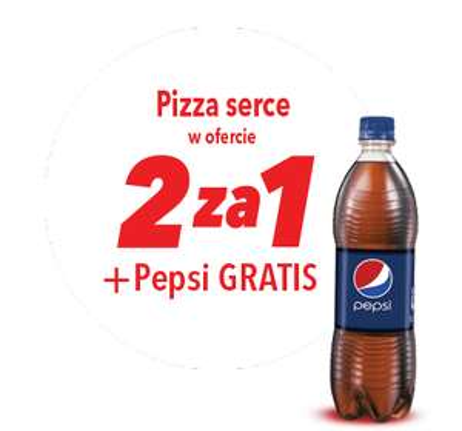 Telepizza na Walentynki - dwie pizze  w cenie jednej + 1 litr Pepsi i dodatkowy sos gratis