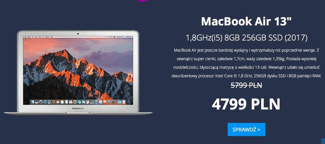 Apple MacBook Air 13' 1,8GHz(i5) 8GB 256GB SSD (2017)