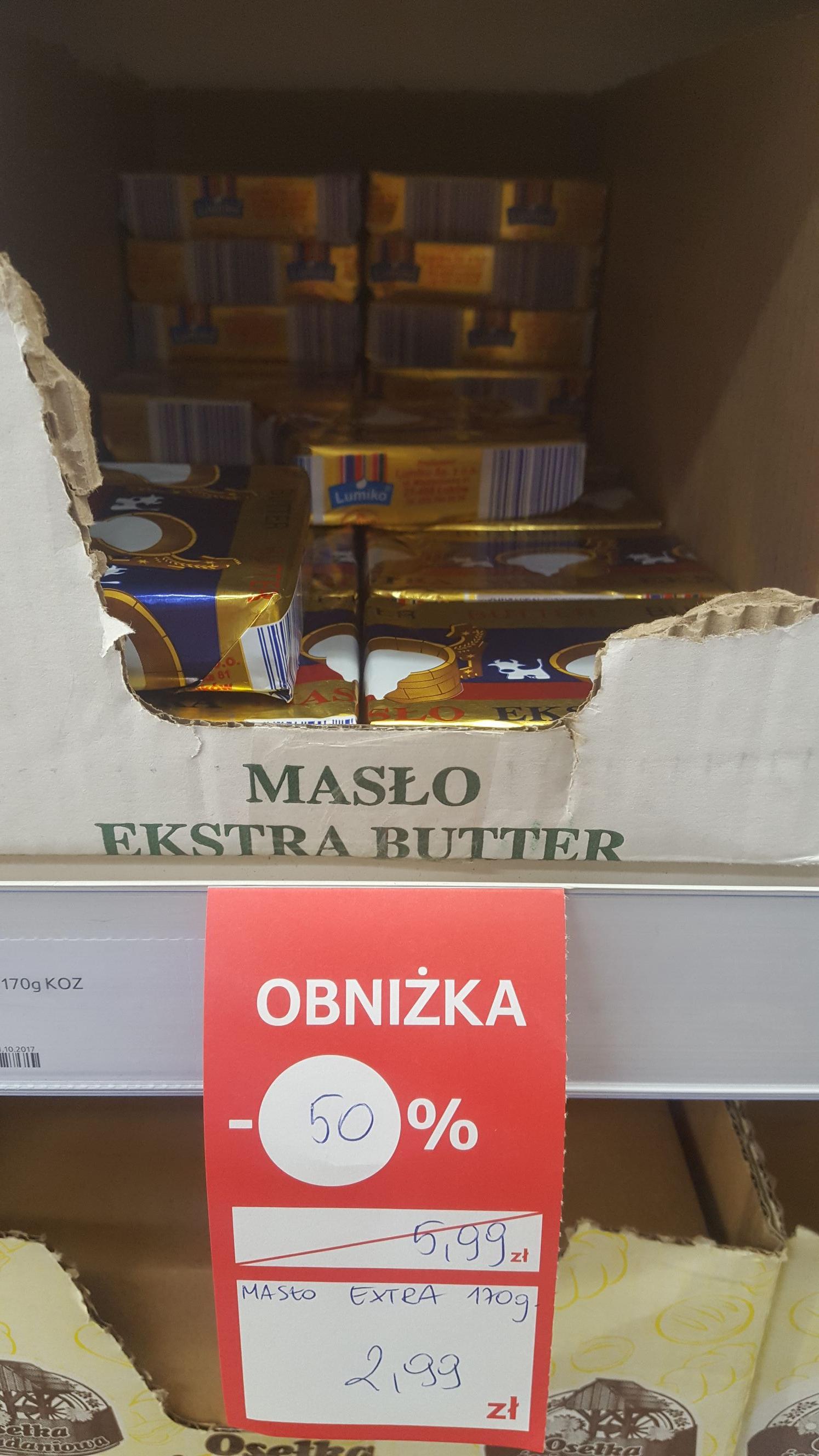 Masło na walentynki (termin ważności do 14.02)  @TESCO