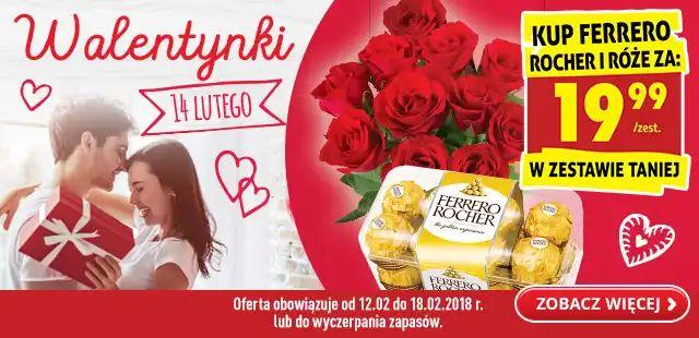 Na walentynki róże i Ferrero Rocher