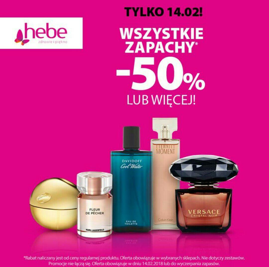 HEBE perfumy min -50 w wybranych stacjonarnych sklepach