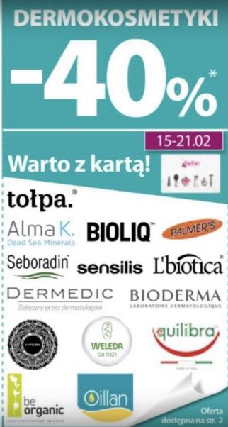 -40% na dermokosmetyki, -50% na wybrane produkty oraz 3 za 2 na markę Dove @ Hebe