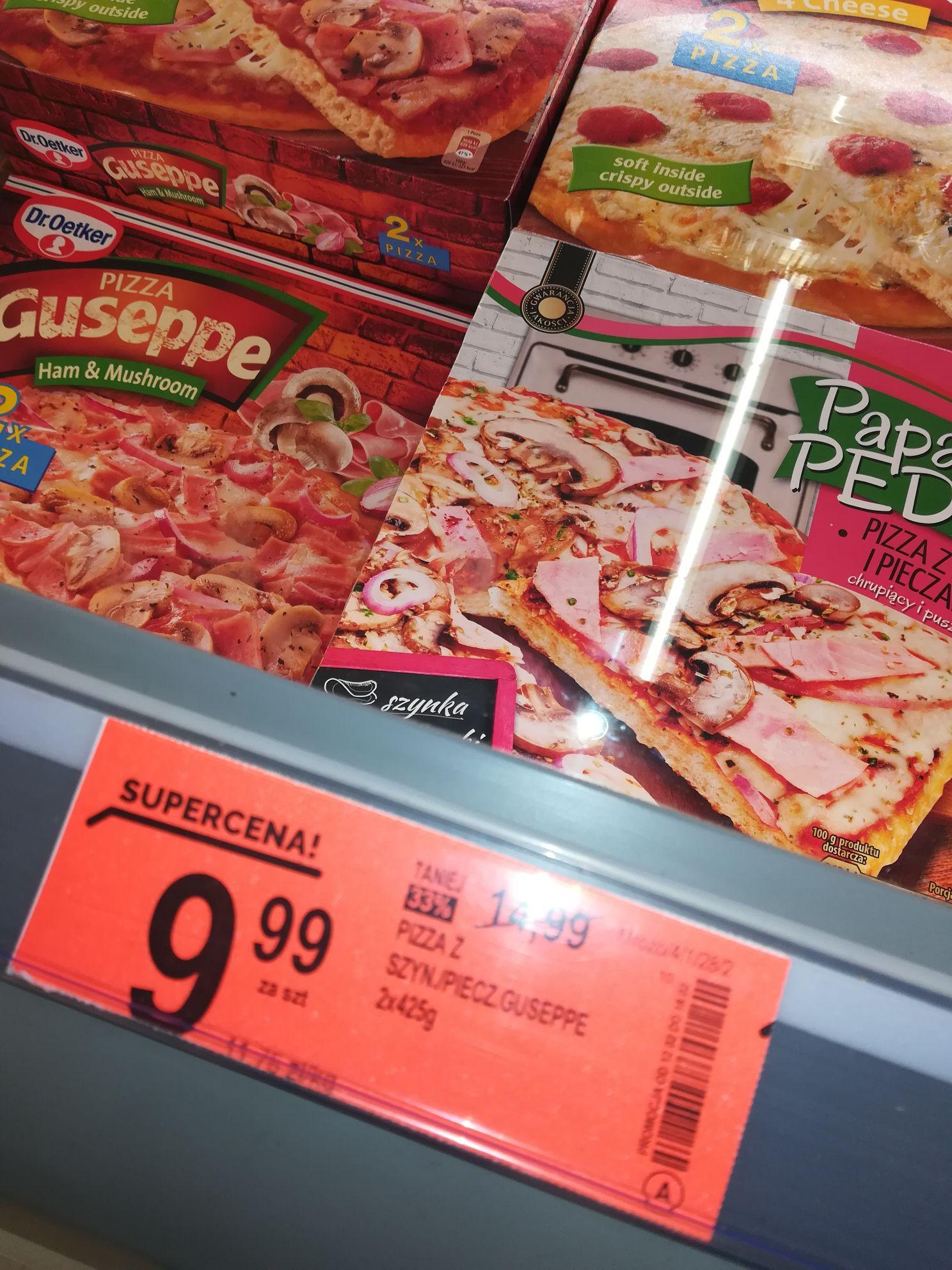 Pizza zszynka i pieczarkami Guseppe Dr. Oetker, 2x425 g @ Biedronka