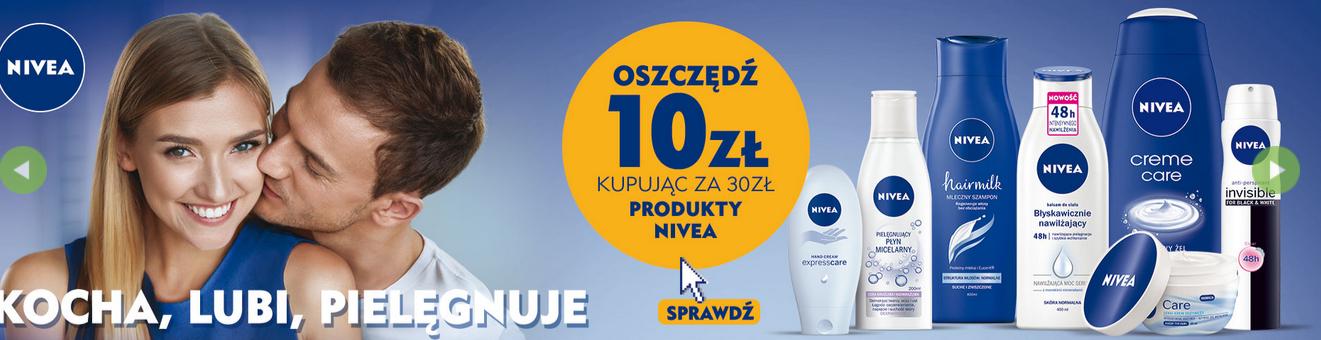 10zł rabatu przy zakupie produktów Nivea za min.30zł (łączy się z przeceną) @ Natura