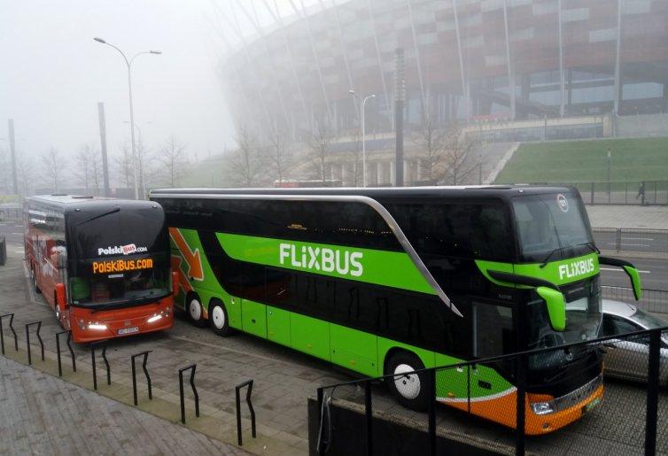 Flixbus — 5 EUR (~21 PLN) zniżki. Bez ceny minimalnej.