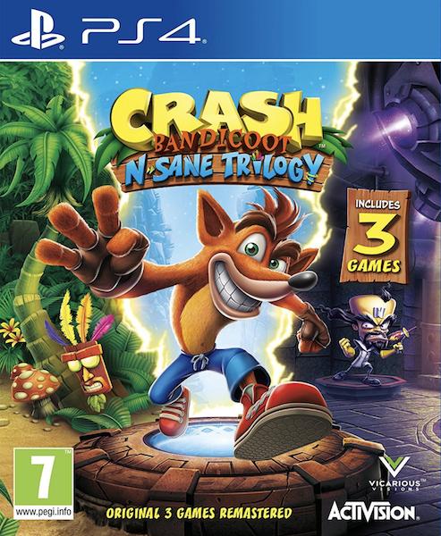 Crash Bandicoot N.Sane Trilogy (PS4 - konta UK) @ CDKeys