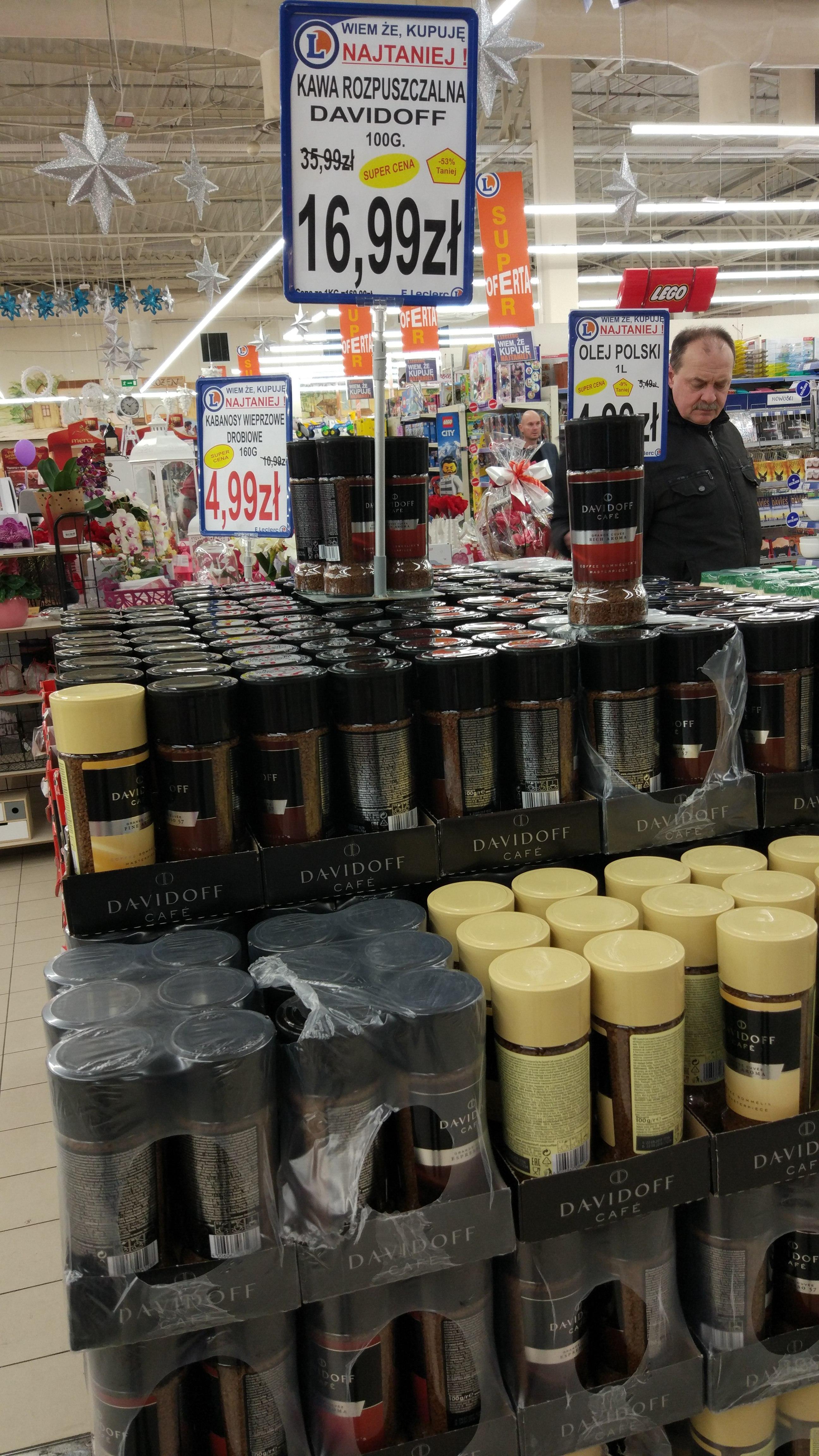 Kawa rozpuszczalna Davidoff 100g trzy rodzaje @L.eclerc Kielce