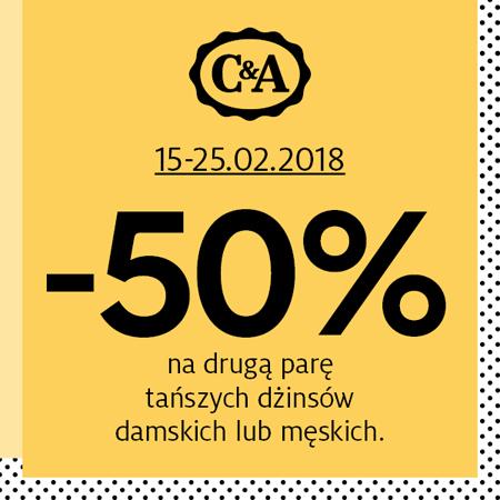 -20% na wybrane dżinsy oraz -50% na drugą parę dżinsów @ C&A