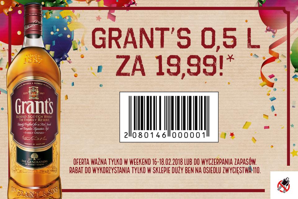 Duży Ben Poznań - Grants 0.5l za 19.99zł