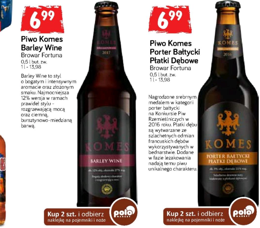 Piwo Komes Barley Wine 0,5L  POLO Market