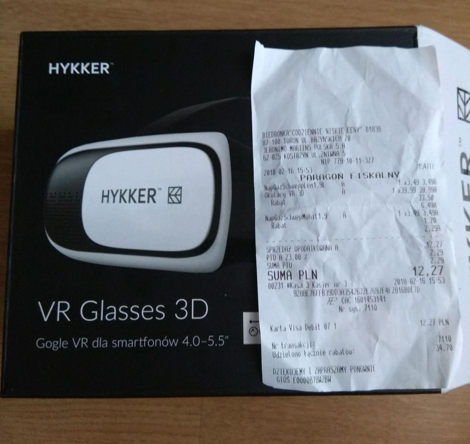 Okulary VR HYKKER w Biedronce